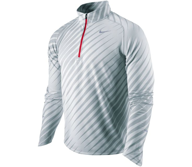 Nike - Running shirt Element Jacq 1/2 Zip grey - SP12 running apparel Running shirt long sleeve for men from Nike for cheap