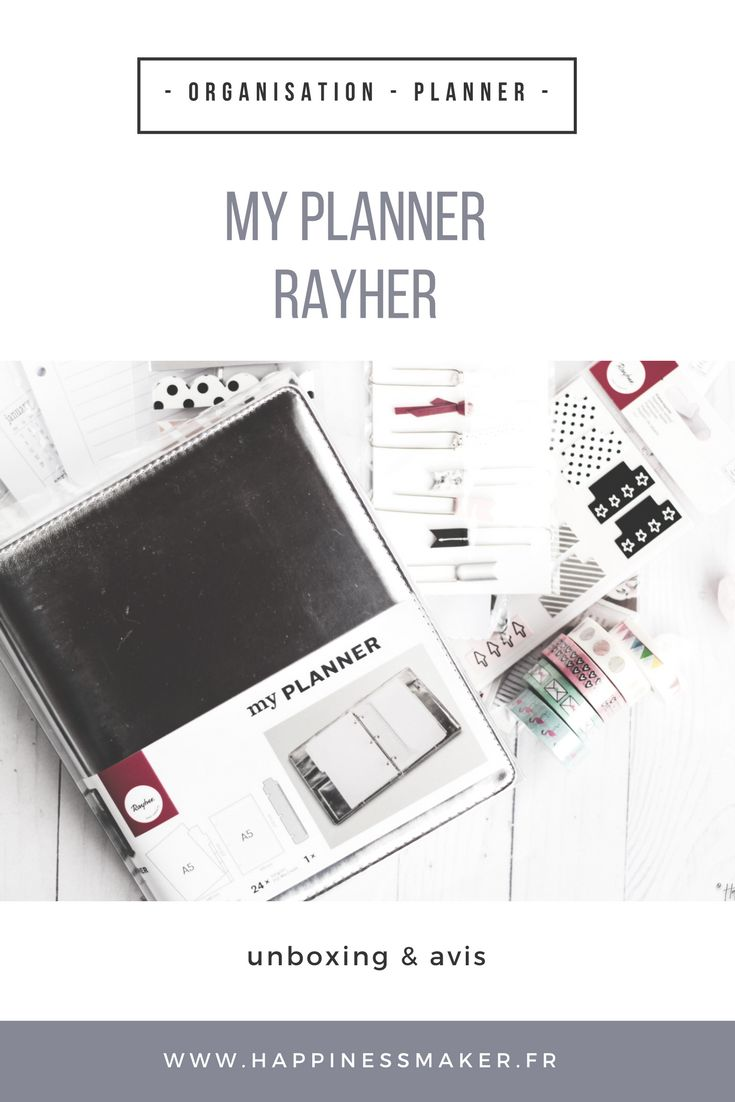 my planner rayher avis test unboxing