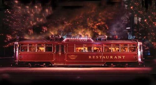 Tram Car Restaurant Melbourne, My husband & I had a really lovely dinner on this moving restaurant, it was a really lovely experience