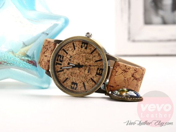 Women Wood Grain Watches for Women Vintage Art by VevoLeather