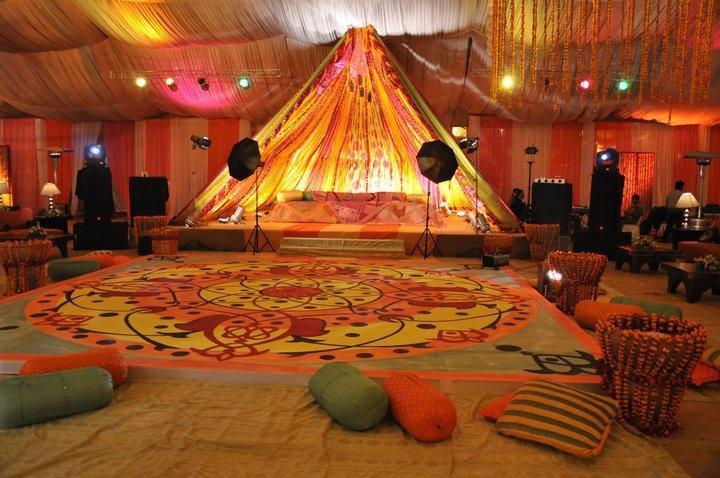 Pre wedding Sangeet, Mehendi-Henna Evening Decor