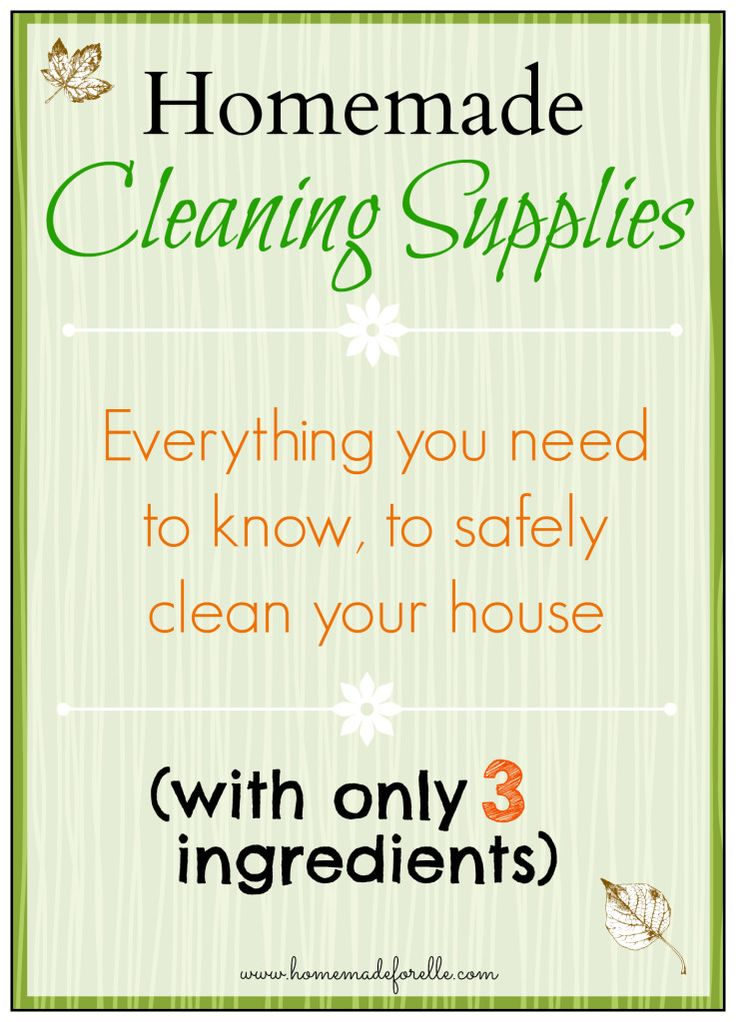 Homemade cleaning supplies.