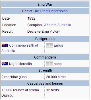 """dat-soldier: """" shadowmaat: """" enrique262: """" The disastrous Australian Emu War. """" Someone turned it into a comic. YES. """" never forget the emu war """""""