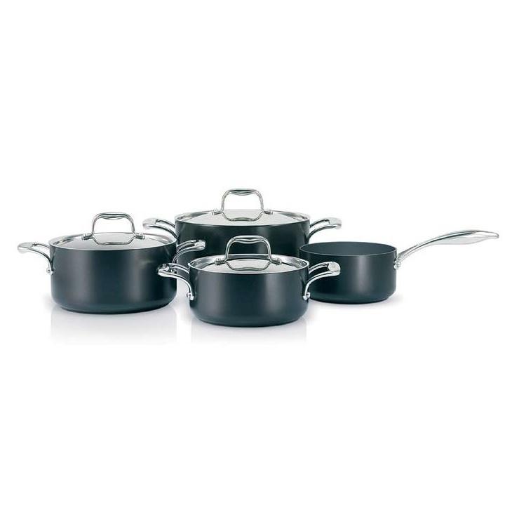 Greenpan Stockholm full range of black non-stick cookware