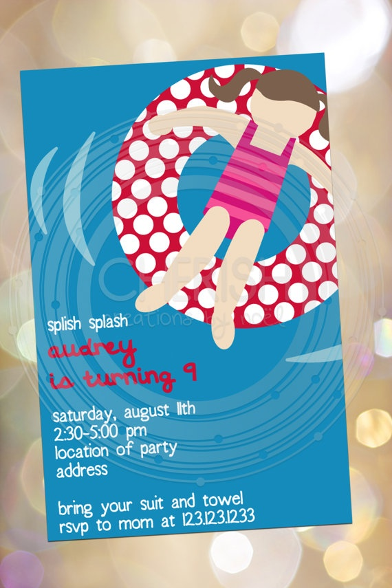 The 25+ best Swim party invitations ideas on Pinterest Beach - pool party invitation