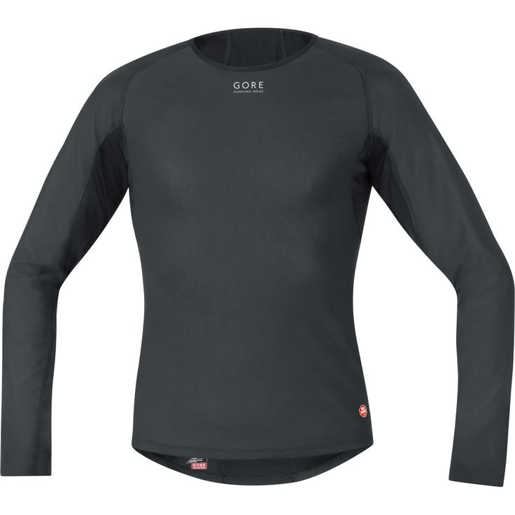 Men's ESSENTIAL BASE LAYER WINDSTOPPER® Thermo Shirt long | GORE RUNNING WEAR®