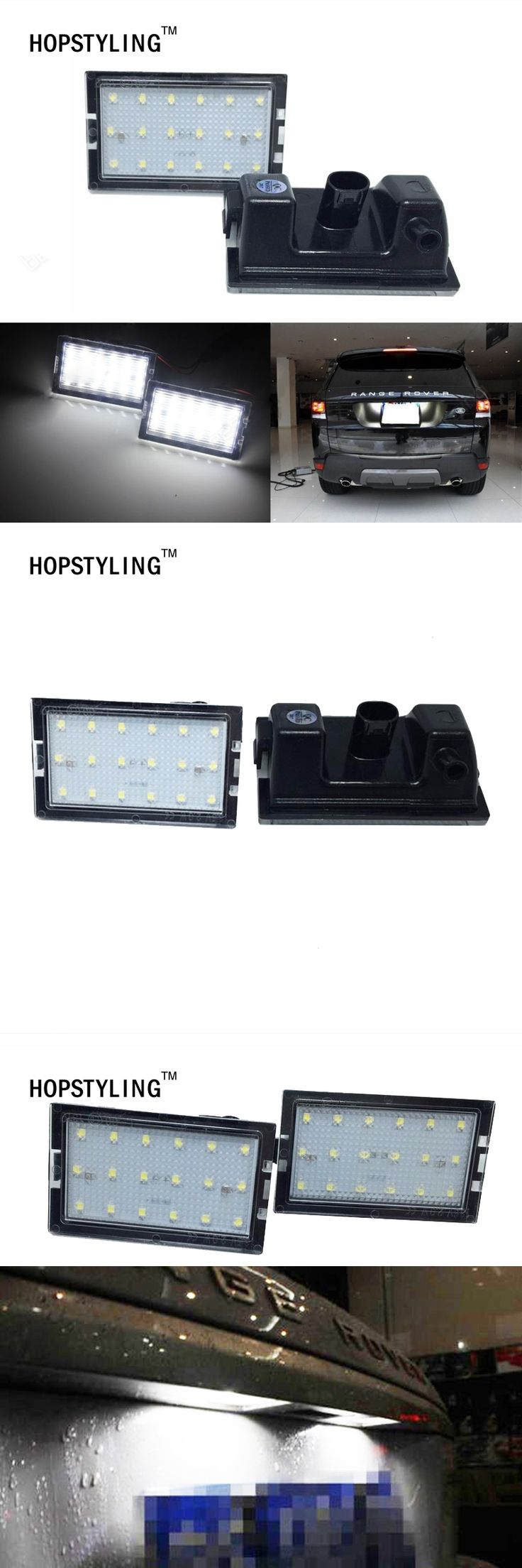 2PCS canbus No error LED number plate light for Land Rover Freelander 2  Land Rover Range Rover Sport Disovery