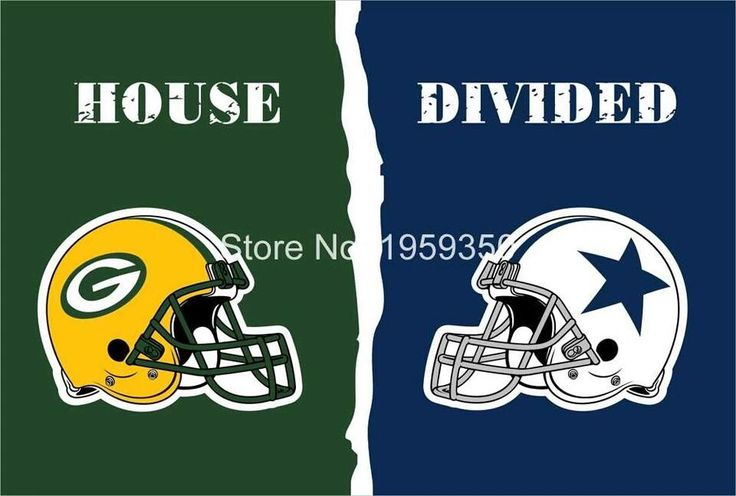 Green Bay vs Dallas Cowboys Flag