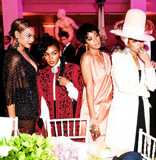 Beyoncé  Janelle Monáe   Solo  &  Erykah Badu Met  Gala 05.05.2014