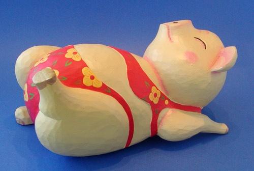 Wooden Ms Bikini Piggy (Made in Indonesia) Bought @ Home Sense (C$12.99)