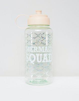 New Look Mermaid Square Large Water Bottle