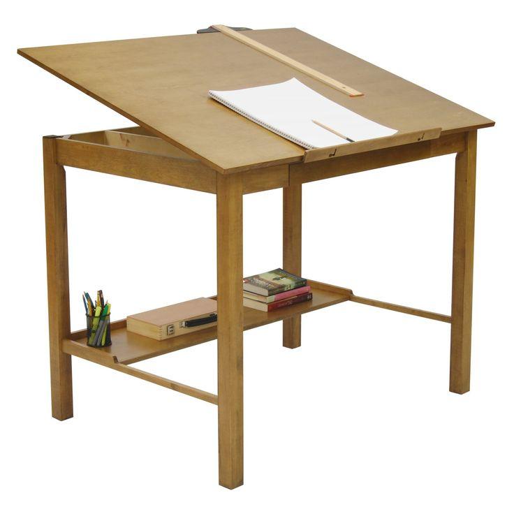 Studio Designs Americana II Drafting Table - Light Oak - 13254