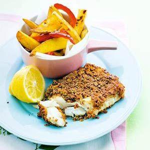 Recept - Krokante vis met gele en rode friet - Allerhande