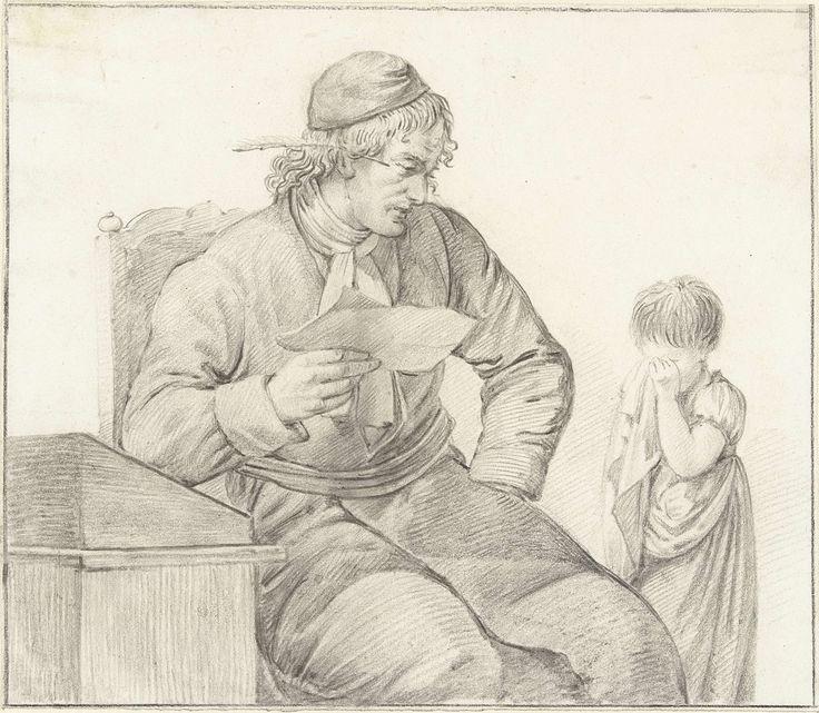 Schoolmeester berispt een klein meisje, toegeschreven aan Pieter Pietersz. Barbiers, 1759 - 1842