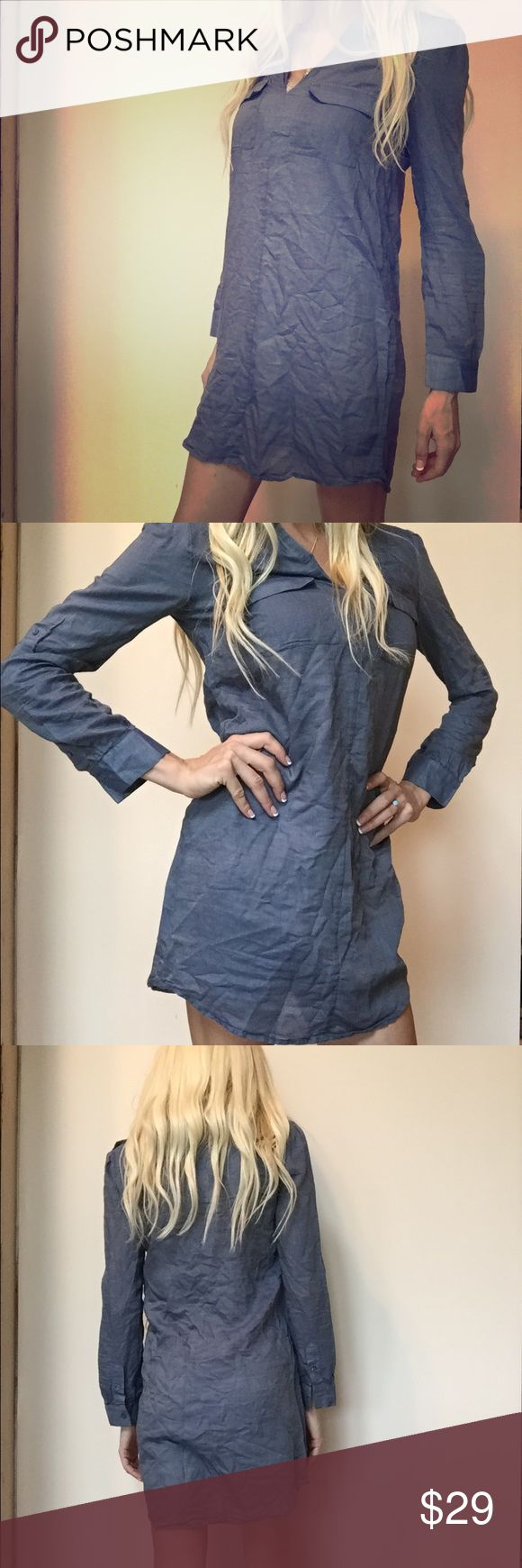 Joie Dress shirt/top So cute! Worn only twice! Excellent condition. Blue dress shirt, button up Joie Tops Blouses