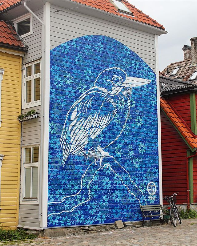 Do you want to learn more about Bergen's vibrant street art scene?  Our street art focused food tour will be hitting the streets soon!   For now check out this bird by Stew Artist!