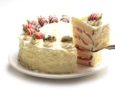 Definitely Strawberries And Pound Cake And Frosting