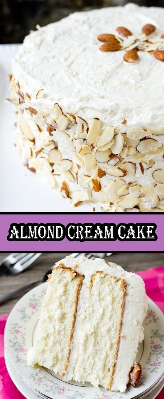 Almond Cream Cake.... If you're looking at this cake and happen to remember the pinkalicious cake we recently posted, you'll think that…