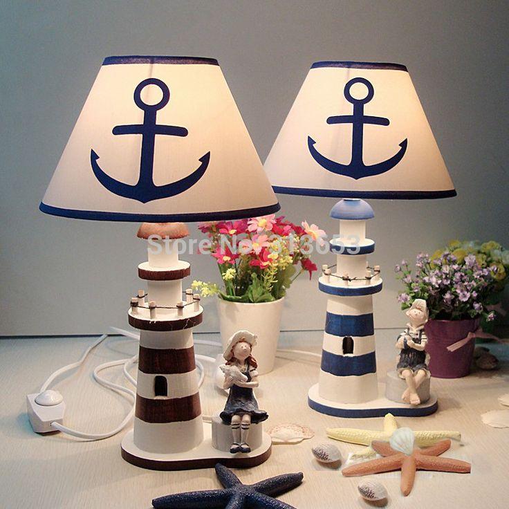 Best 25 lighthouse lamp ideas on pinterest lightbulb tattoo mediterranean style wooden lighthouse lamptable lamp for living room bedroom decoration free shipping aloadofball Gallery