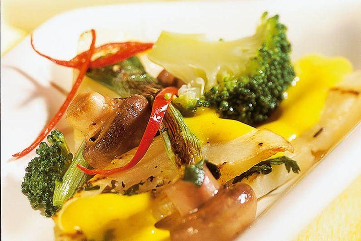 Das Rezept für Sellerie-Curry mit Kokossauce mit allen nötigen Zutaten und der einfachsten Zubereitung - gesund kochen mit FIT FOR FUN