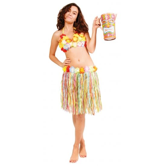 Gekleurd Hawaii rokje 45 cm. Hawaii of tropisch feestje? Bij Fun en Feest vind je de leukste Hawaii feestartikelen, kostuums en accessoires. Toppers Crazy Summer kleding tip!