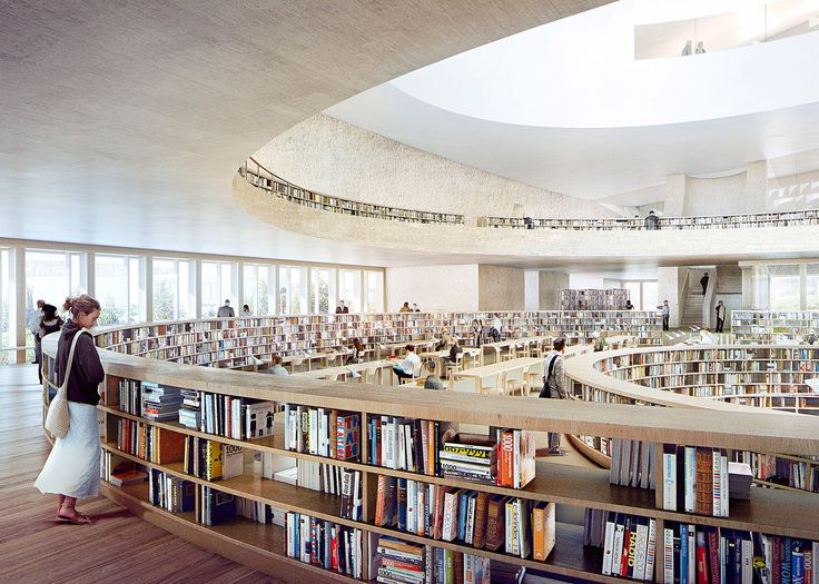 Herzog & de Meuron releases new images of curving, stone-clad National Library of Israel