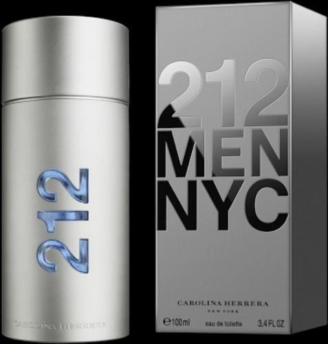 Perfume 212 Men Edt Masculino 100ml Carolina Herrera - R$ 320,00 em Mercado Livre