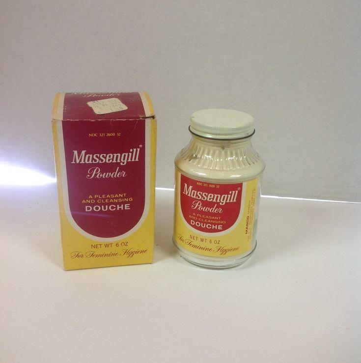 vintage massengill powder jar box feminine hygiene douche facts of life taboo personal. Black Bedroom Furniture Sets. Home Design Ideas
