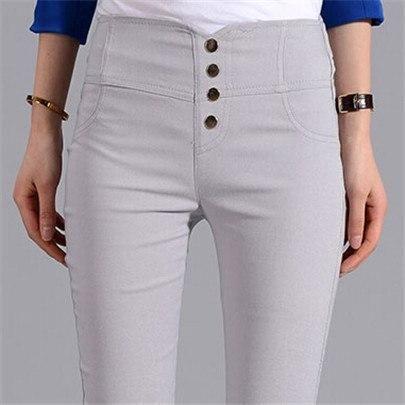 Visnxgi Button Leggings Skinny Leggins Women Pencil Trousers Plus Size High Waist Legging Slim Ladies Pantalones Clothes K131 Re