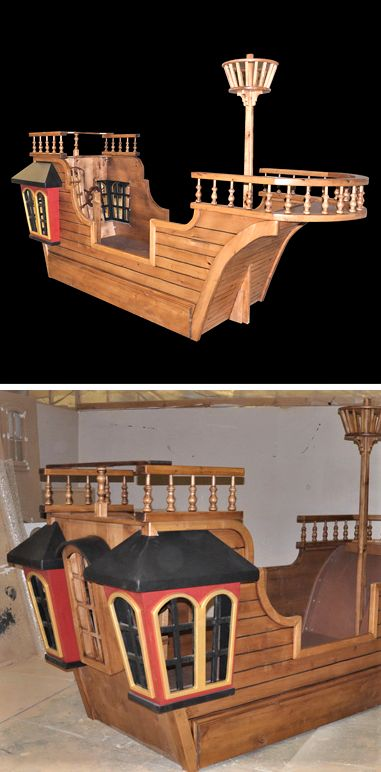 Pirates off the port bow! The Pearl Pirate Ship Bed is sure to carry your child to adventures on the high seas every night. Click the picture to learn more about the Pearls awesome features and options.
