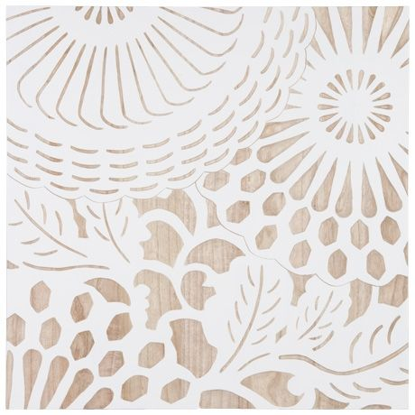 Summer Lace Wood Carving 70x70cm Set of 2