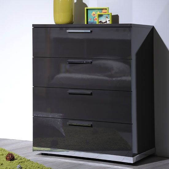 Sinatra contemporary bedroom chest of drawers with 4 - Contemporary bedroom chest of drawers ...