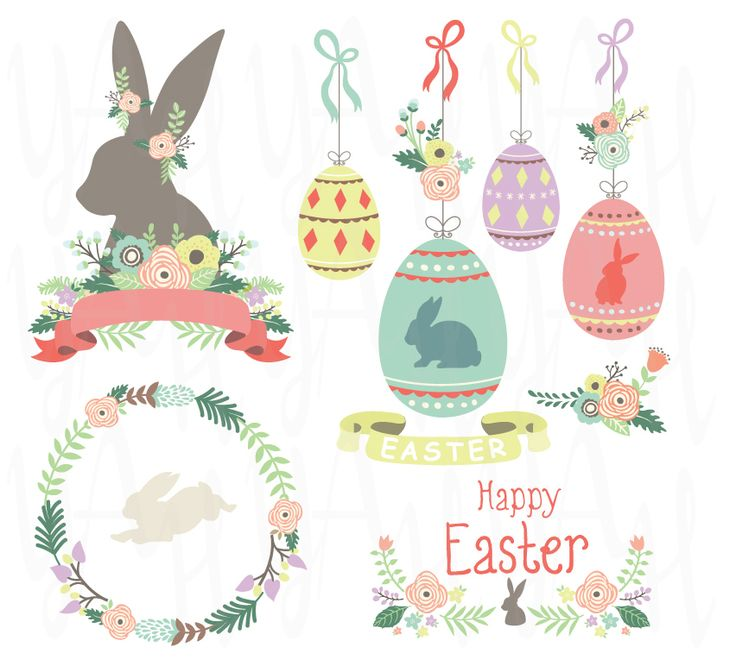 38 images set of Happy Easter Day Collection for invitations, blog, web design, graphic design, printed paper items, cupcake toppers, scrapbooking & paper craftsand so much more!