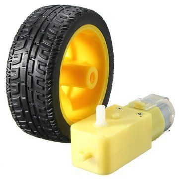 Only US$3.16, buy best Plastic Tire Wheel With DC 3-6v Gear Motor For Arduino Smart Car sale online store at wholesale price.US/EU warehouse.