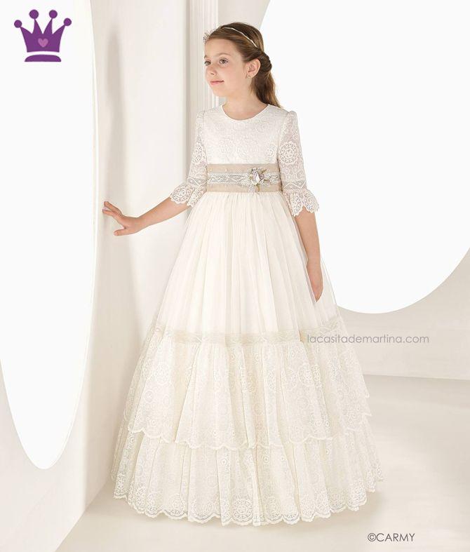 vestidos de primera comunion lujosos