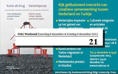 Kunst als Brug in NRC als ad.  Met kortingsactie t/m 31 december!  http://www.boekman.nl/producten/publicaties/kunst-als-brug
