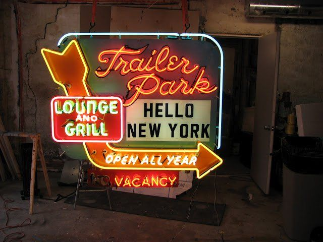Todd Sanders - Roadhouse Relics Trailer Park Lounge and Grill Hello New York Open All Year No Vacancy