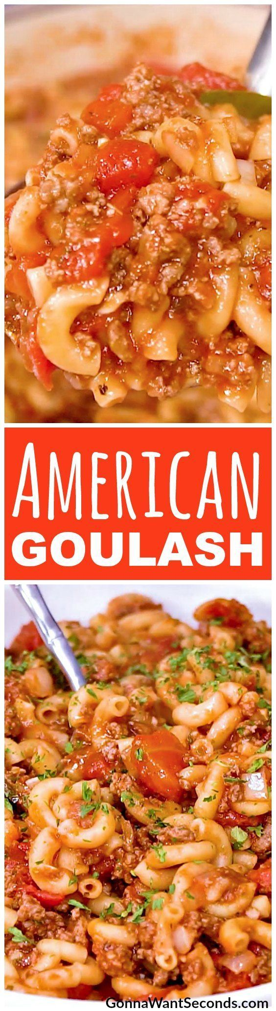 Classic American Goulash. Just a classic meaty tomato-y casserole full of goodness!!