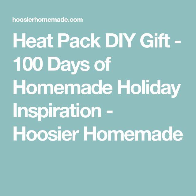 Heat Pack DIY Gift - 100 Days of Homemade Holiday Inspiration - Hoosier Homemade