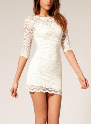 ELEGANT ALL LACE MINI DRESS