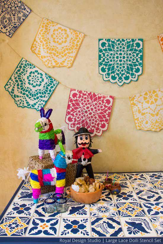 DIY Stencil Dcor For Your Next Fiesta  Annie Sloan