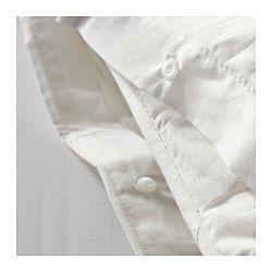 DVALA Duvet cover and pillowcase(s), white - white - Full/Queen (Double/Queen) - IKEA