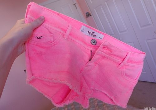Neon pink shorts ♡