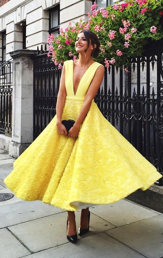 Lovely Pepa Yellow Gown Grace Kelly Inspired Fall Inspo