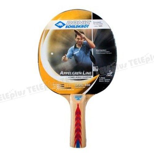 Donic Appelgren 300 Masa Tenisi Raketi - ITTF ( Uluslararası Masa Tenisi Federasyonu ) Onaylıdır.  Raket yeni başlayan oyuncular içindir.  Sünger kalınlığı 1,5 mmdir.  Raketin Sap kısmında anti titreşim önleyici sistem bulunmaktadır. - Price : TL27.00. Buy now at http://www.teleplus.com.tr/index.php/donic-appelgren-300-masa-tenisi-raketi.html