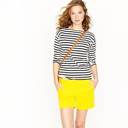 Lemony shorts + stripes. What's not to love?