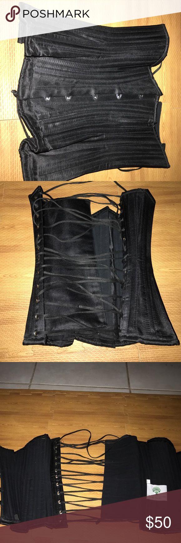 Clip zip waist trainer perfect floral design waist training cinchers - Corset True Steel Rods Corset For Waist Trainingsteel