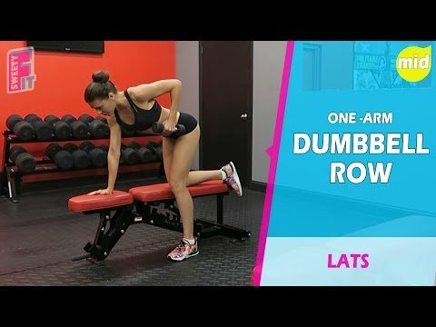 ONE ARM DUMBBELL ROW    We've created a video collection of exercises for the gym and for home workouts. Find out more by clicking on the following link And Please Like/ Repin - Help our project!  https://www.youtube.com/sweetyfit exercise at home, fitness exercises, gym exercises, home exercises, top exercises, exercises for men, exercises for women, best exercises, cardio exercises, build muscles, exercise benefits, exercise videos, lose weight xercises,