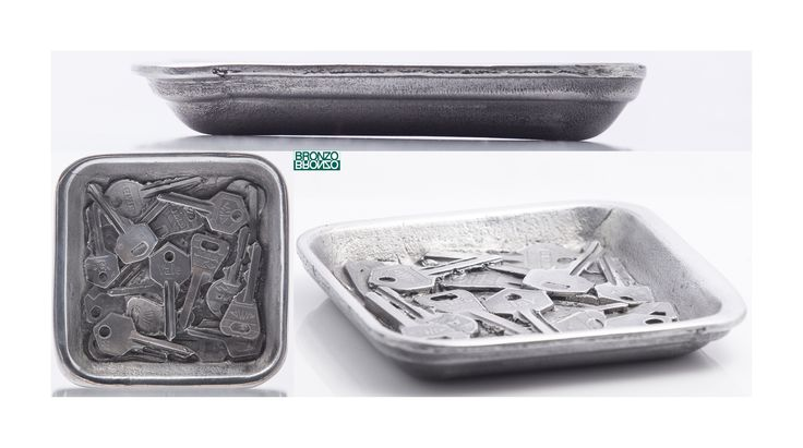Bandeja Llaves en aluminio fundido acabado pulido. Diseño y fundición Bronzo.