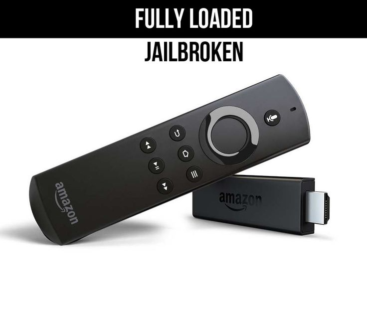 Amazon Fire Stick With Voice Remote, Jailbroken - Fully loaded with Kodi and 1700+ addons